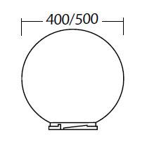 Sphere 500mm opale ref luxna lx000502 eclairage - Globe pour lampadaire exterieur ...